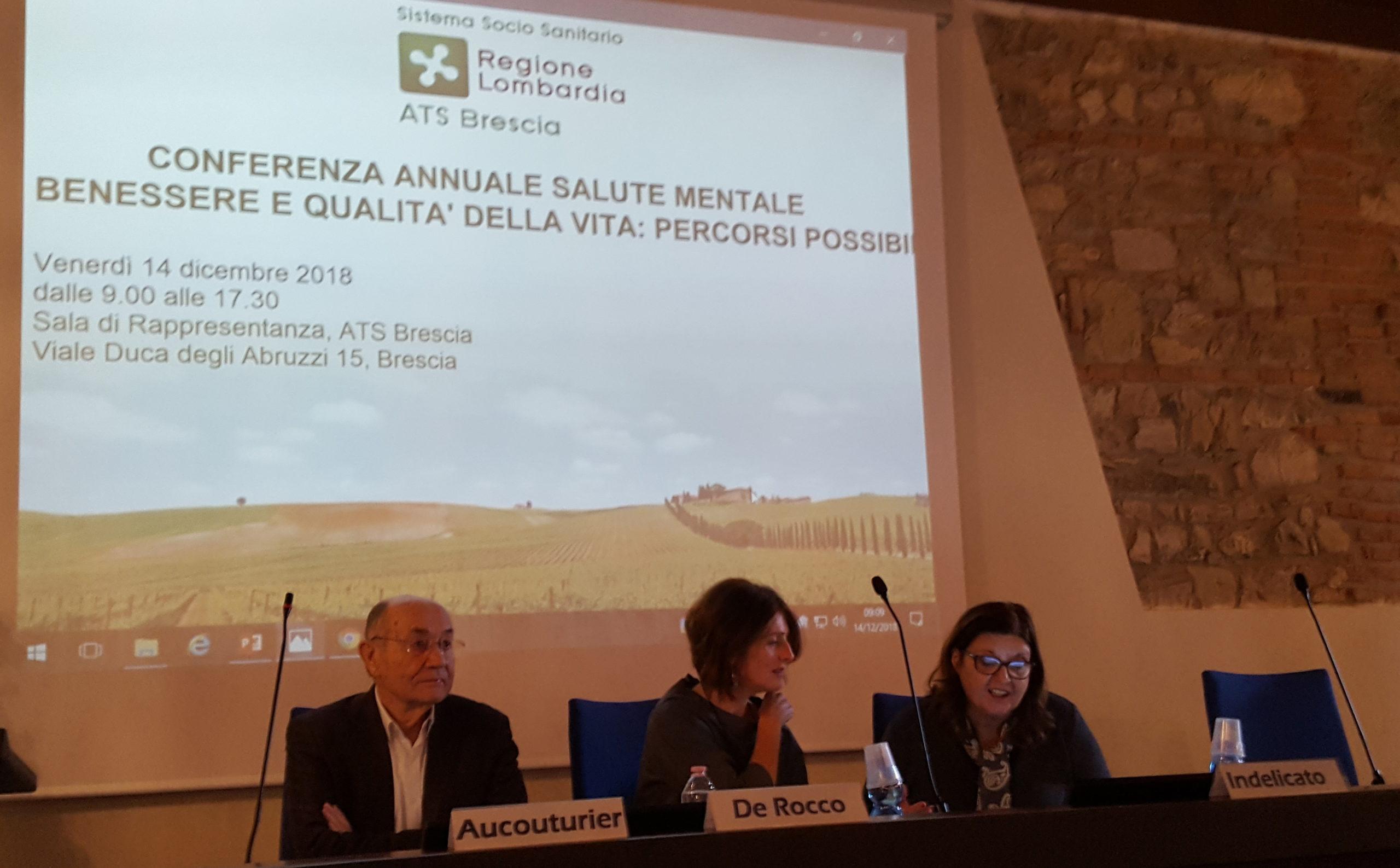 CONFERENZA SULLA SALUTE MENTALE 2019 – ATS DI BRESCIA