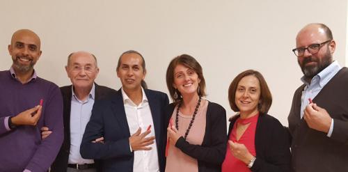 Equipe del Centro Globo con il Prof. Aucouturier